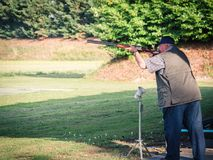 Competition Of Clay Pigeon Shooting. Royalty Free Stock Image