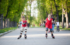 Competition in park Royalty Free Stock Images