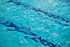 Competition Pool with Blue Water Royalty Free Stock Images