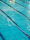 Competition Pool with Blue Water Stock Photography