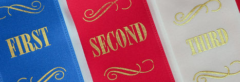 Competition ribbons Stock Images