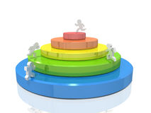 Competition with rivals. 3D illustration Royalty Free Stock Photo
