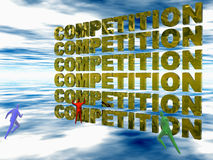 Competition, the run. Royalty Free Stock Images