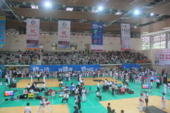 The competition site for Shenzhen Taekwondo Championship Stock Photos