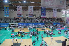 The competition site for Shenzhen Taekwondo Championship Royalty Free Stock Photo