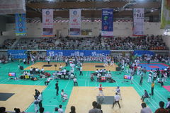 The competition site for Shenzhen Taekwondo Championship Royalty Free Stock Images