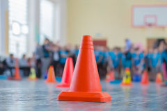 competition in the sports hall Royalty Free Stock Photography