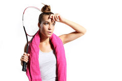 On the competition squash Stock Photography