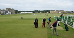 Competition at St. Andrews Golf Course, Scotland. Royalty Free Stock Photo