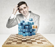 Competition and strategy in business . Mixed media Royalty Free Stock Photo