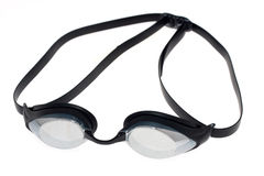 Competition swim goggles. On a white background stock photography