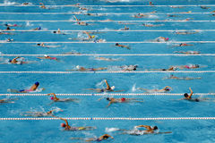 Competition swimming pool Royalty Free Stock Photography
