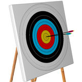 Competition target with arrows Stock Photography