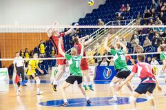 Competition to Volleyball Royalty Free Stock Photo