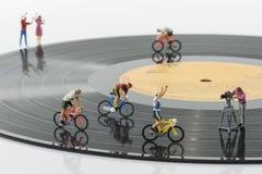 Puppet bike racing Royalty Free Stock Photo