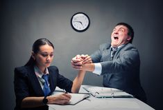Competition. Between two people at work Royalty Free Stock Images