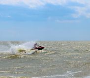 Competition for water sports on doljanskaya spit. Royalty Free Stock Image
