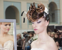 Competition of wedding hairdresses 2 Stock Photo