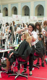 Competition of wedding hairdresses 7 Stock Image