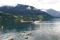 Competition ZELLER DRACHENBOOTCUP  2014 Stock Photography