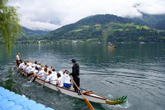 Competition ZELLER DRACHENBOOTCUP  2014 Royalty Free Stock Photo