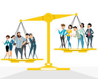 Competitions in business. Vector illustration of a competitions in business Stock Photos