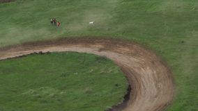 Competitions of cars of the buggy on a soil track. stock footage