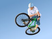 Competitions on dirt jumping. A vector illustration Stock Illustration
