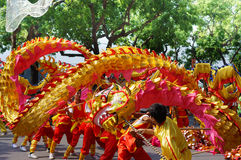 The competitions dragon dance Stock Photography