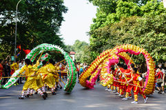 The competitions dragon dance Royalty Free Stock Photo