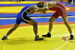 Competitions on Greco-Roman wrestling Royalty Free Stock Photo