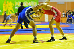 Competitions on Greco-Roman wrestling. 
