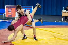 Competitions in Greco-Roman wrestling in Orenburg, Russia Stock Images