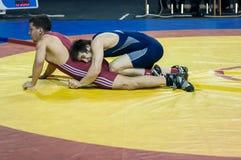 Competitions in Greco-Roman wrestling in Orenburg, Russia Stock Photo