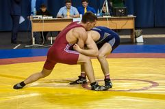 Competitions in Greco-Roman wrestling in Orenburg, Russia Royalty Free Stock Photos