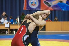 Competitions in Greco-Roman wrestling in Orenburg, Russia Royalty Free Stock Photography