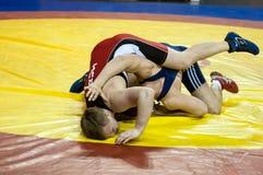 Competitions in Greco-Roman wrestling in Orenburg, Russia Stock Photos