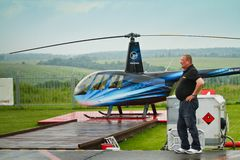 Competitions on helicopter sports Royalty Free Stock Photography