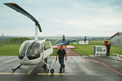 Competitions on helicopter sports Royalty Free Stock Photo