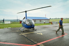 Competitions on helicopter sports Stock Photo