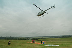 Competitions on helicopter sports Stock Photos