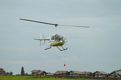 Competitions on helicopter sports Royalty Free Stock Photos