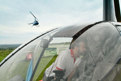 Competitions on helicopter sports Carlson Cup-2011 Stock Images
