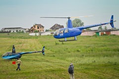 Competitions on helicopter sports Carlson Cup-2011 Stock Image
