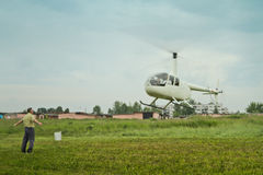 Competitions on helicopter sports in Russia. Royalty Free Stock Photo