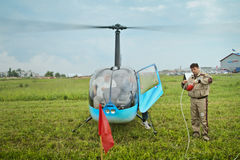 Competitions on helicopter sports in Russia. Stock Photography
