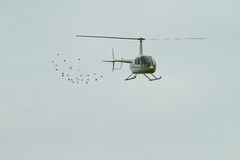 Competitions on helicopter sports in Russia. Stock Images