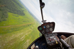 Competitions on helicopter sports in Russia. Royalty Free Stock Photography