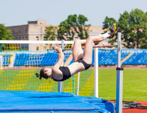 Competitions on high jump Stock Photography