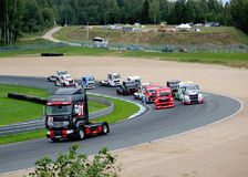Competitions of lorry Stock Image